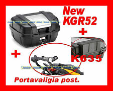 GUZZI STELVIO 1200 08-012 KIT VALIGIA BAULETTO KAPPA KGR52 + PIASTRA E708 + K635