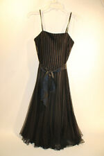 Frank Lyman Design Womens Black Flowing Dress Silk String Size 4 EUC