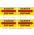 DANGER KEEP AWAY Helicopter Tail Rotor 50mm Vinyl Stickers Decals x4