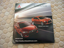 MITSUBISHI OFFICIAL ECLIPSE LANCER AND FULL CD PRESS KIT BROCHURE 2009 USA Ed