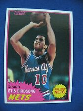 1981-82 Topps Otis Birdsong Nets card #17 $1 S&H NBA Basketball