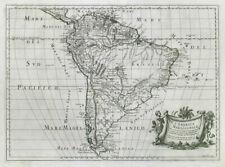 L'America Meridionale. South America. DE ROSSI / SANSON 1677 old antique map