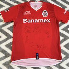 Atletica Mens Autographed Signed Soccer Jersey Mexico Toluca Futbol Medium Red