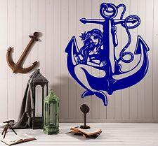 Wall Vinyl Decal Sticker Sexy Mermaid Sea Anchor Nautical Abstract Decor (z4574)