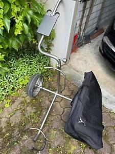 Golt trolley JuCAD Titan mit  Kartenhalter, Tasche seltens gebraucht siehe FOTOS