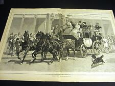 Coaching Club HORSES and COACH Victorian Women Men 1881 Large Folio Print