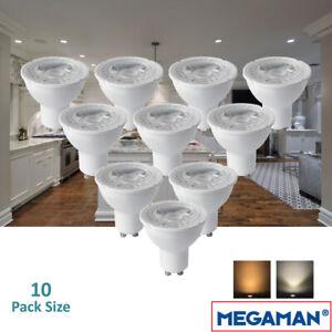 5/10 Pack Megaman 5w LED GU10 PAR16 Lamp 36° Beam Kitchen Spotlight  2800k 4000k