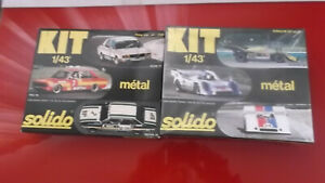 solido kits  x 2  bmw  530 and porsche 917