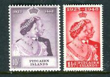 1949 Pitcairn Island Royal Silver Wedding Anniversary Muh Set of 2 Stamps