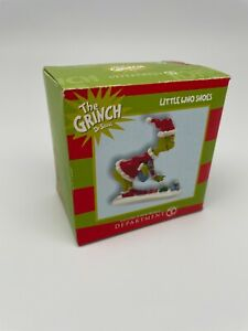 RETIRED- Grinch Village-Little Who Shoes- Department 56- 402802