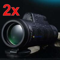 2pc 35x50 Night Vision Adjustable Camping Hiking Hunting Monocular Telescope