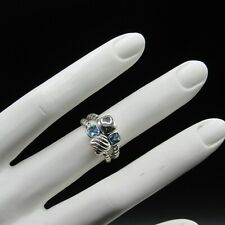David Yurman Classic Ring Mosaic Chiclet Blue Topaz (size 6)