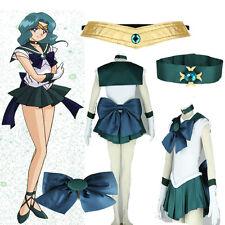 Super Girls Sailor Moon Sailor Neptune Kaiou Michiru Cosplay Costume Halloween
