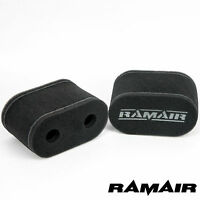 Ramair Motorcycle Foam Carb Sock Air Filters Double Trumpets - Velocity Stack