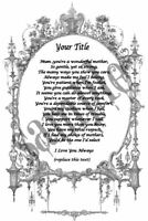 Personalised Mum Poem A4 A5 Scroll Certificate Gift Mother Mom Mam keepsake