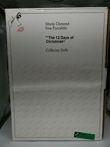 "Marie Osmond Porcelain ""The 12 Days of Christmas"" Complete-Collector Dolls WCOA"