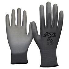 120 Paar NITRAS 6205 Nylon - PU Handschuhe, grau, Mechaniker, CAT II, Gr.: XL