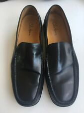 COLE HAAN NIKE AIR MENS SZ 11.5 M BLACK LEATHER LOAFERS SLIP-ON COMFORT SHOES