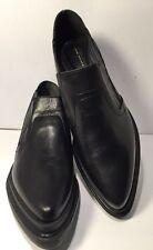ZARA WOMAN Sz 39/8 M Ladies Black Leather Slip On Platform Ankle Boots NEW