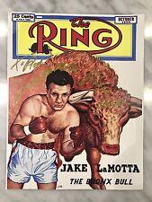 "Jake LaMotta ""Raging Bull""  Autograph The Ring Cover"