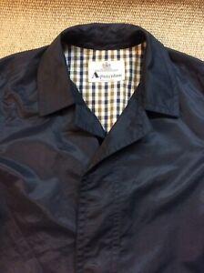 AQUASCUTUM Medium-Large 42 Regular Blue Mac Raincoat Overcoat Coat VGC