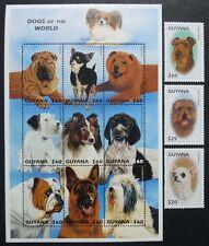 Guyana 1997 Hunde Dogs Terrier Collie Chow Chow Shar-Pei 6051-62 Postfrisch MNH