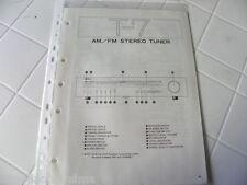 Yamaha Original Service Schéma T-7 AM / FM Stéréo Tuner