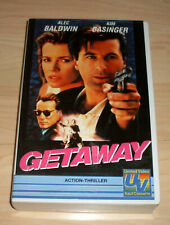 VHS Film - Getaway - Alec Baldwin - Kim Basinger - Thriller - Videokassette