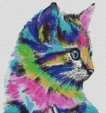 Colourful Kitten Counted Cross Stitch Kit, Animals, Pets, Cats
