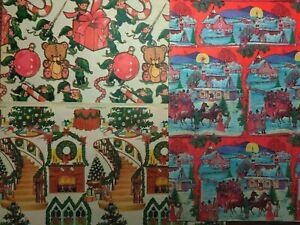Vintage 1950's Christmas Gift Wrapping Paper New Old Stock