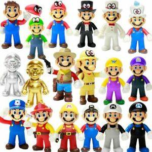"2020 Gifts Cute Odyssey Super Mario Bros Luigi Mario Action Figures Toys New 5"""