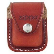 ZIPPO TASCHE in BRAUN Echtes Leder!! Mit Clip und Zippo Logo NEU OVP