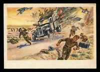 GT GOLDTEK: WW2 WWII Germany 3rd Reich Postcard German Desert War North Africa