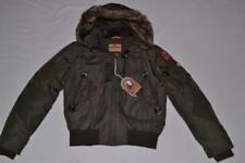 AUTHENTIC PARAJUMPERS GOBI ECO BOYS HOODED BOMBER BUSH YOUTH S SMALL BRAND NEW