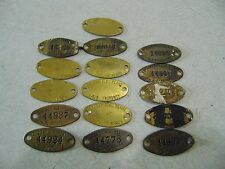16 Badger Ordnance Works Baraboo, WI Army Ammunition Powder Plant Tags Military