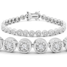 1 Carat Miracle Set Natural and Genuine Diamond Bracelet, 7 Inches