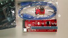 new 12 pieces  PCIE Adapter 1x to 16x for Mining multi GPU Riser SATA USB3.0