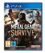 Ps4 juego Metal Gear survive incl. survival pack DLC mercancía nueva