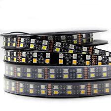24V 12V RGBW LED Strip Light Double Row 5m 600 LEDs Black PCB Waterproof Rope