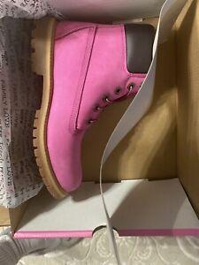 Timberland Pink size 8 Susan G Komen boots