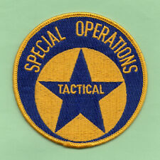 A34 * NEW ORLEANS LA TACTICAL SPECIAL OPERATIONS DIVISION POLICE PATCH
