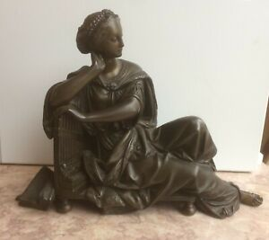 19th CENTURY   FRENCH BRONZE OF A SEATED  WOMAN.    CARRIER-BELLEUSE