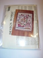 design works country christmas sampler counted cross stitch kit wall art decor