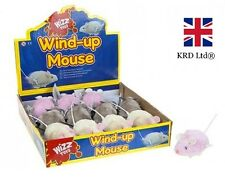 Kids Clockwork Wind Up PLASTIC MOUSE Birthday Christmas Stocking Filler Toy Gift