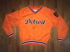 Detroit Tigers Jacket Mens Medium Puma Pullover Orange 2001 Preowned MLB Tigers