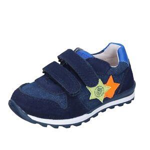 Jungen schuhe ENRICO COVERI 22 EU sneakers blau wildleder textil BJ974-22