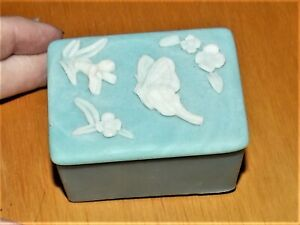 Original Design Gifts International Butterfly Flowers Blue White Trinket Box