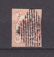 """Schweiz - 1852, MiNr. 10, Type 3, gestempelt - 15 Rp. """"RAYON III"""" - gepr. ABT !"""