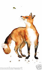 COLOURFUL FOX PAINTING PRINT