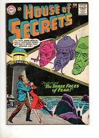 House of Secrets #62 2ND APPEARANCE of ECLIPSO! 1963 KEY DC BLACK COVER! 61